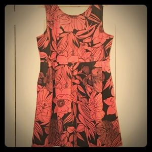Apt 9 Coral Floral A-line dress with pockets